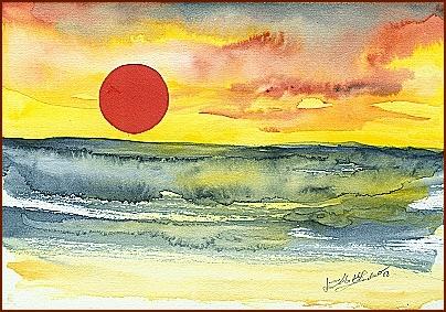 Sonnenuntergang Rodakino Beach