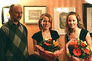 Peter Bauer, Nathalie und Jennifer Horn